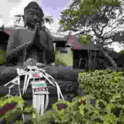 Buddhist statues in Sanur