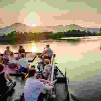 Group boat tour of Kampot