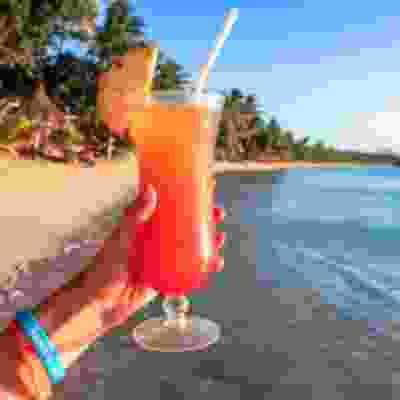 Sunset cocktails on Yasawa Islands