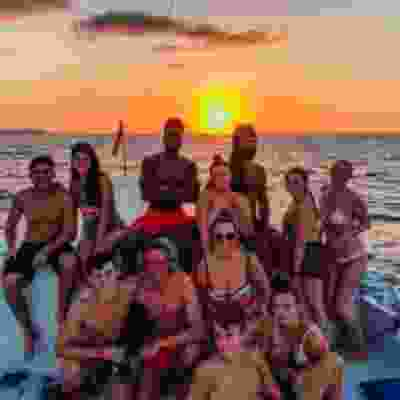 Sunset boat cruise in Flores