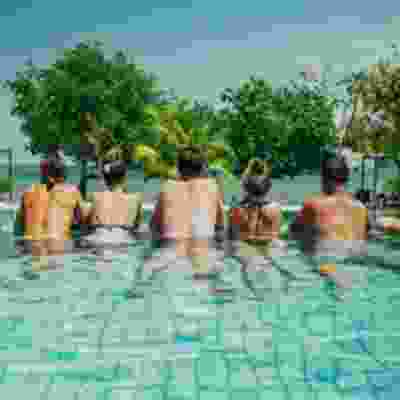 Swimming pool time in Sumbawa